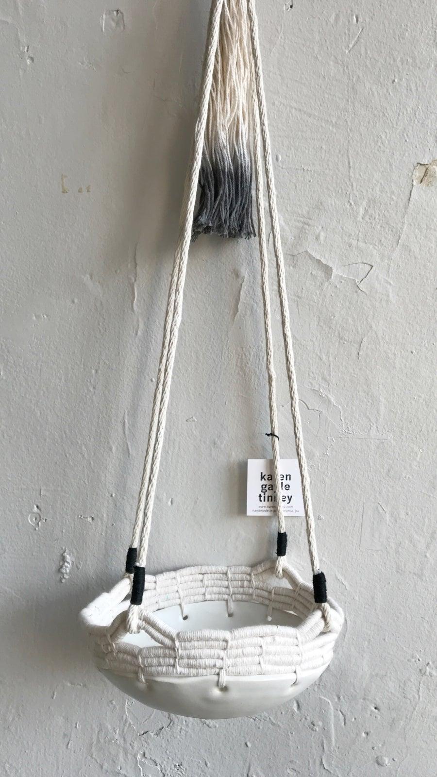 Image of Karen Gayle Tinney Hanging Stoneware Basket