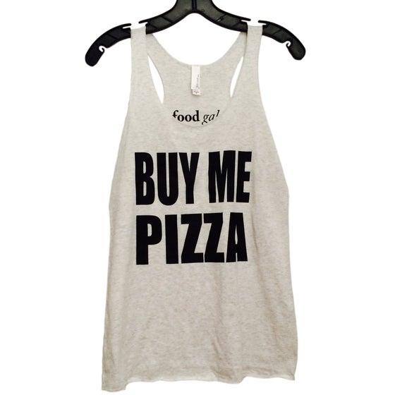 Image of Buy Me Pizza Tank - White