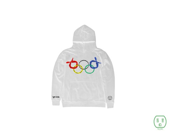 "Image of WHITE ""Ghetto Olympics"" Hoodies"