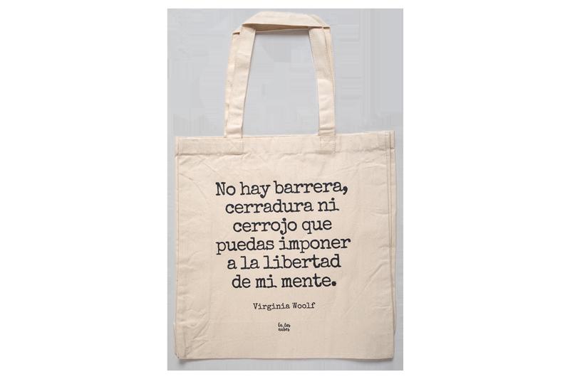 "Image of Bolsa tote algodón orgánico ""Virginia Woolf"""