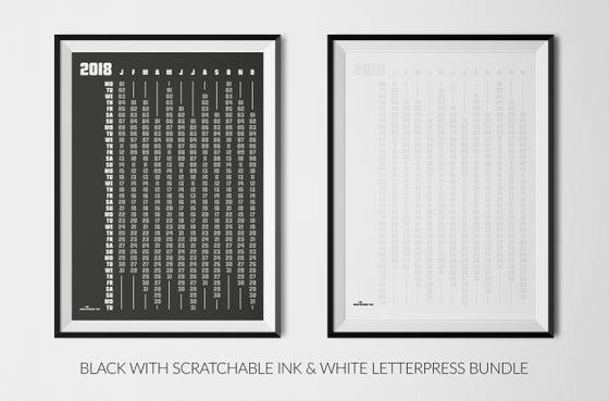 Image of ANTITHESIS BLACK & WHITE 2018 CALENDARS BUNDLE