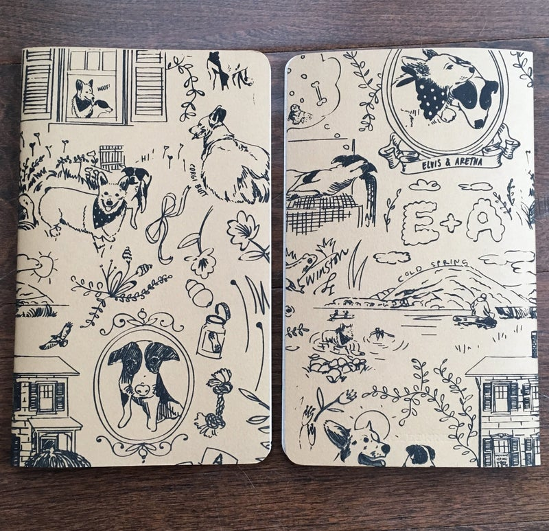 Image of Elvis & Aretha's Pawsome Notebooks (2 per pack)