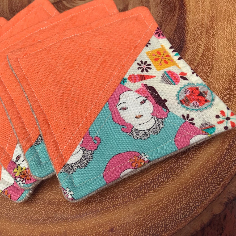 Image of SCRAPPY Coasters - pink lady