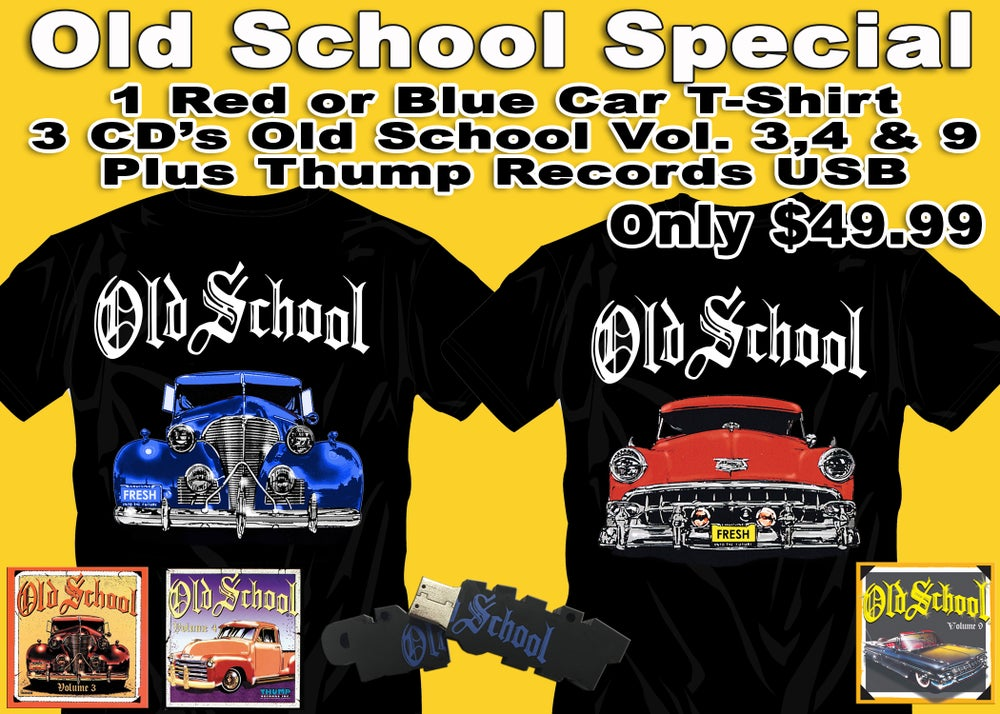 Image of Old School T-Shirts / CD's / Thump Drive