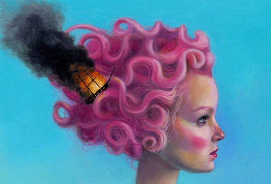 """Image of """"All hands were lost at pink sea"""" limited edition print"""