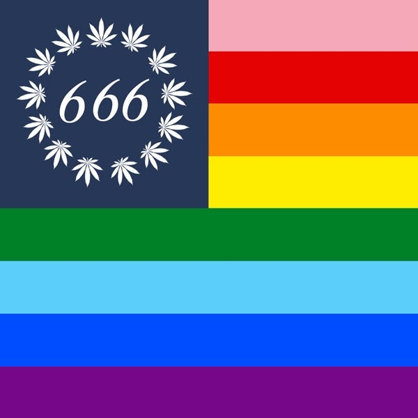 Image of PRIDE WEED 666 FLAG