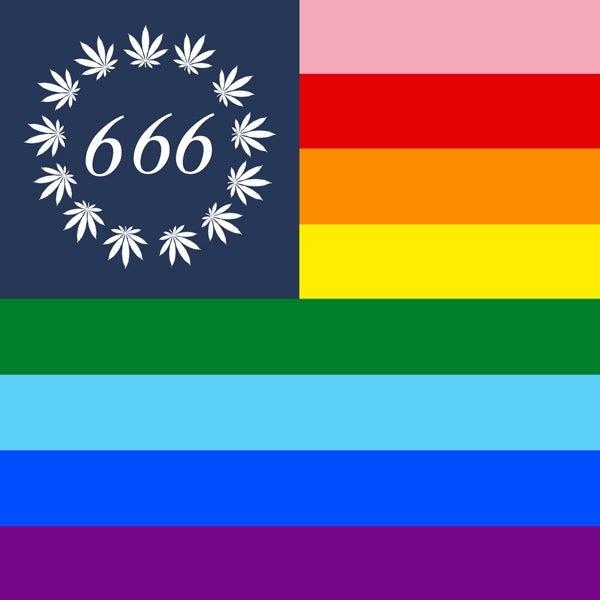 Image of PRIDE WEED 666 FLAG
