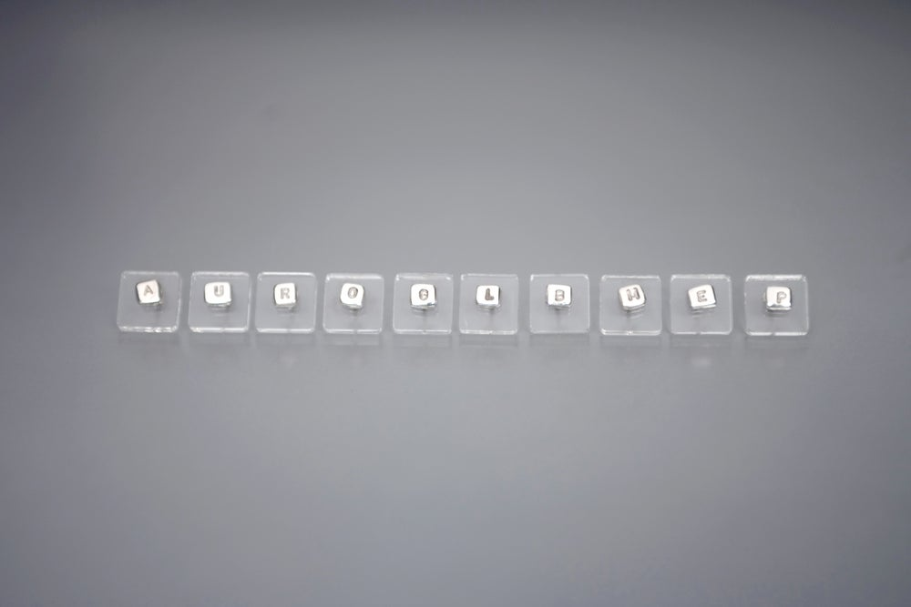 Image of Silver earrings with letters