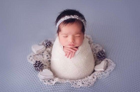 Image of Light blue mohair headband