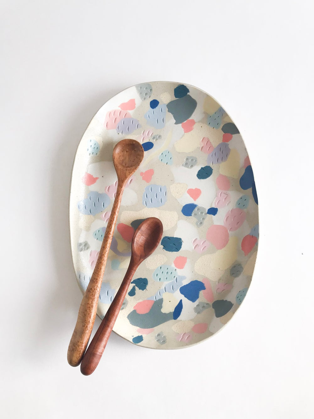 Image of Rainbow Oval Serving platter