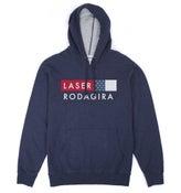 Image of RODAGIRA X LASER TEAM HOODIE NAVY