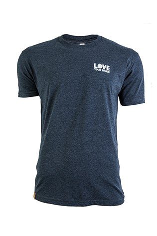 Image of LoveYourBrain T-Shirt: Navy