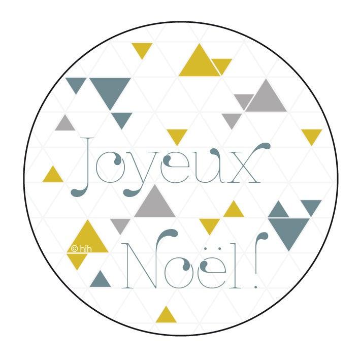 Image of stickers ▲triangolini▲ 'Belle Année' ou 'Joyeux Noël'