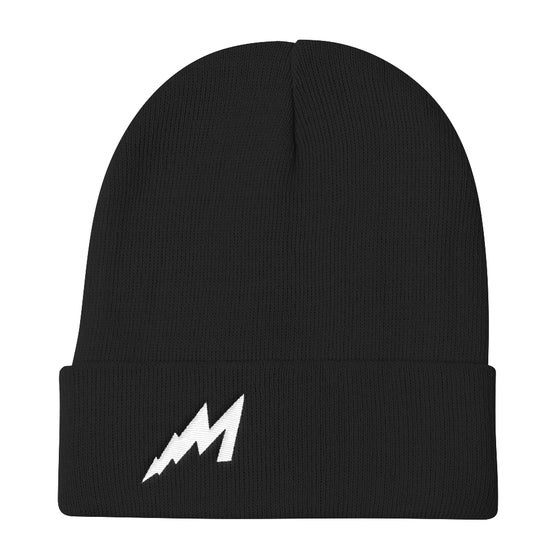 Image of M Lightning Beanie (Black) Lightning
