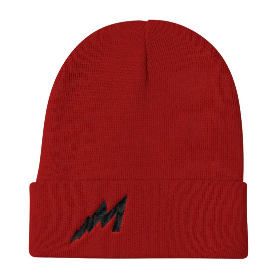 Image of M Lightning Beanie (Red)