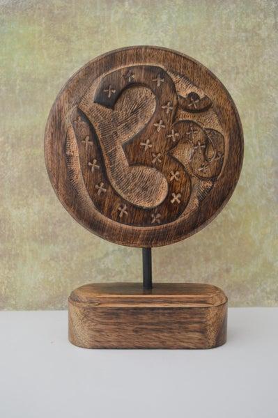 Image of Om symbol Wood tabletop