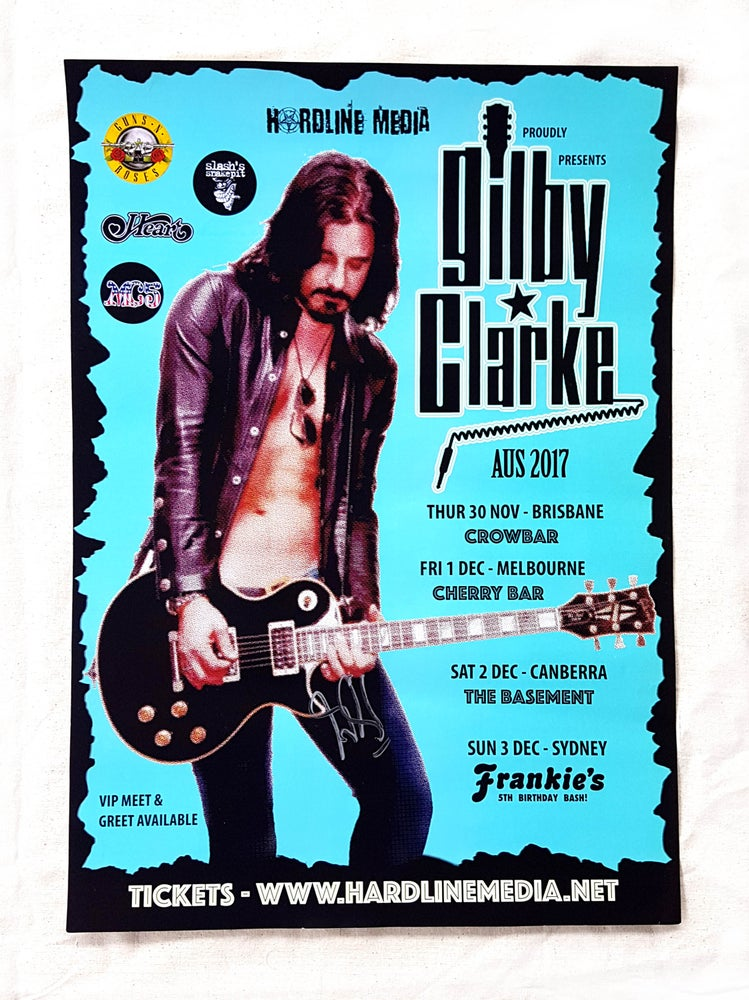Image of POSTER (SIGNED) - Gilby Clarke Australian Tour 2017