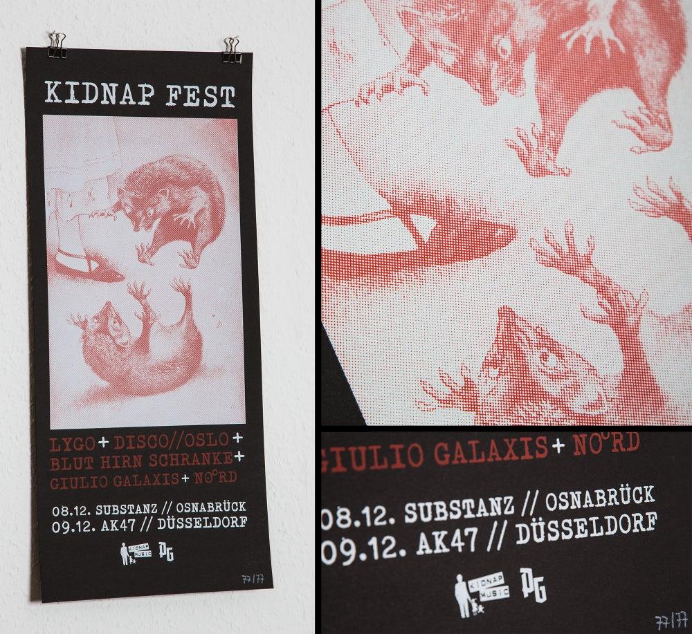 Image of KIDNAP FEST | Siebdruckposter (limitiert auf 77 Stück)