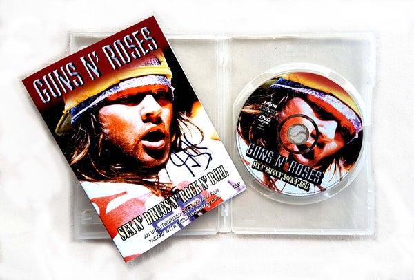 Image of DVD (SIGNED) - Guns N' Roses 'Sex N' Drugs N' Rock N' Roll'
