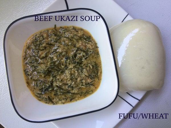 Image of Ukazi Soup with FuFu