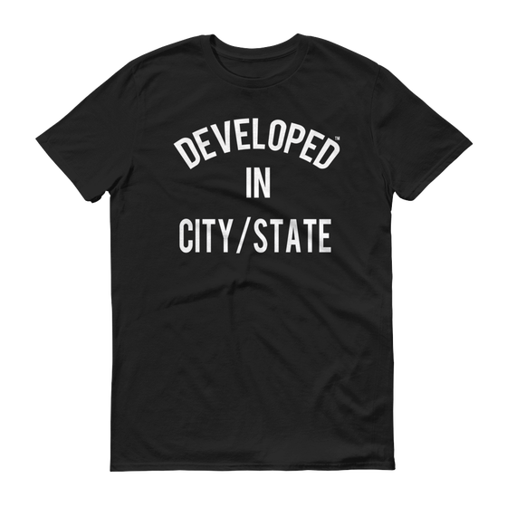 Image of BASICally Developed Tee-'YOUR CITY/STATE'