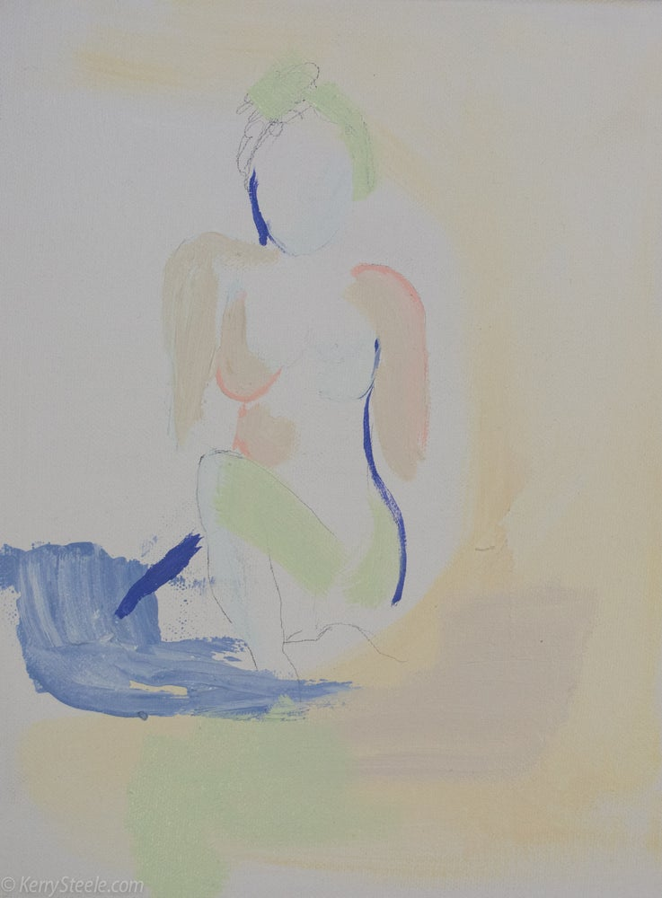 Image of Uncovered 9 x 12 on canvas