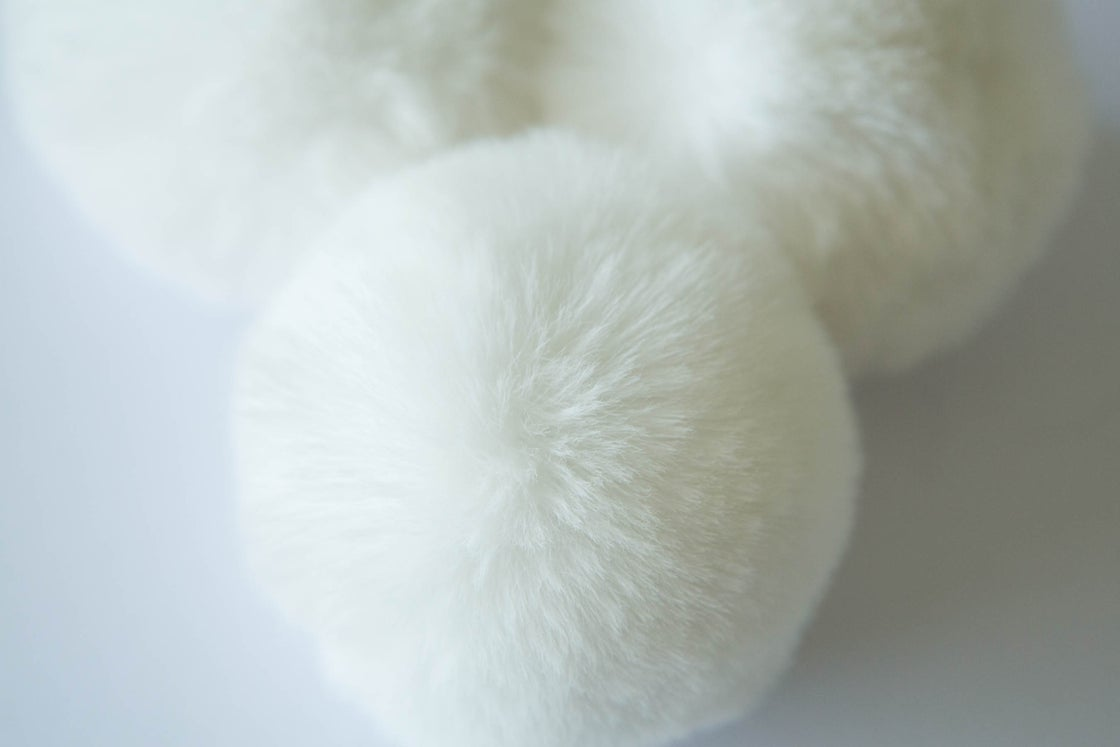 Image of Faux Fur Pompom - Cream