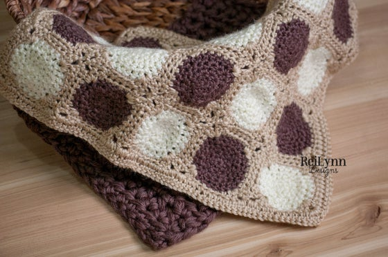 Image of Truffle Mini Afghan in Taupe, Bone and Ivory