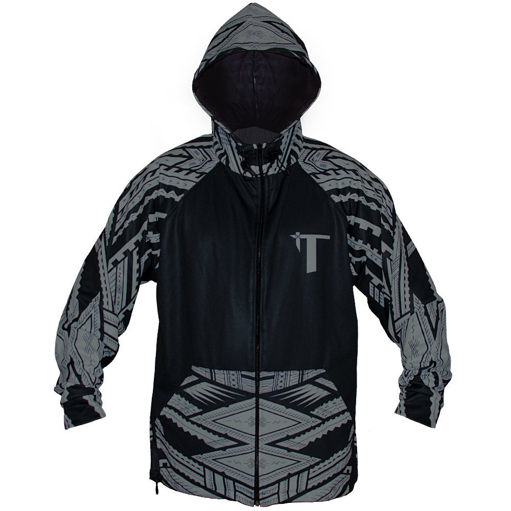 Image of Tatau/Samoan Mike Colab Black/Gray Zip Hoodie