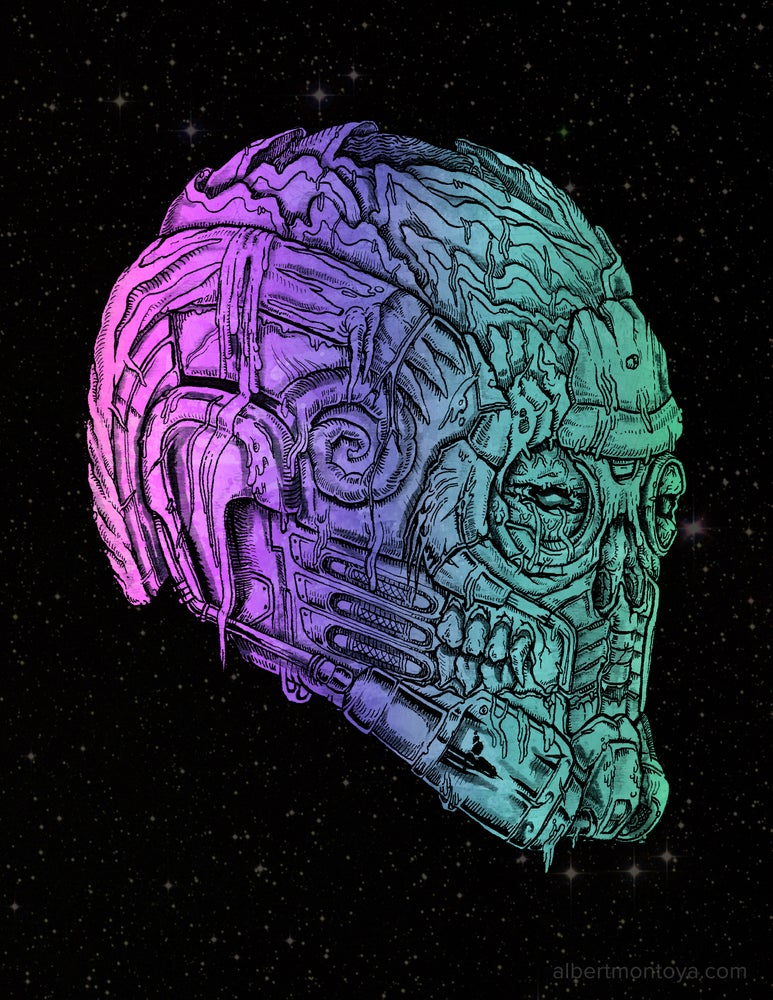 """Image of Print """"Undead StarLord"""""""
