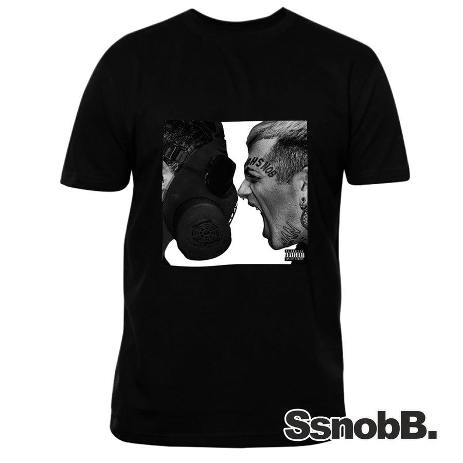 "Image of ""WANNABE"" T-Shirt + poster autografato da Highsnob e Junior Cally"