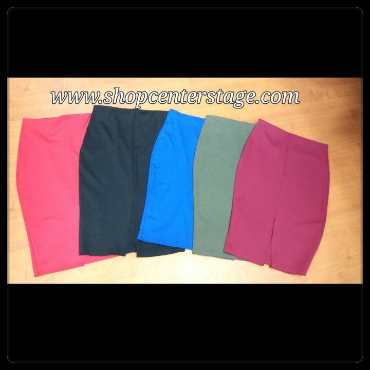 Image of solid Pencil skirt