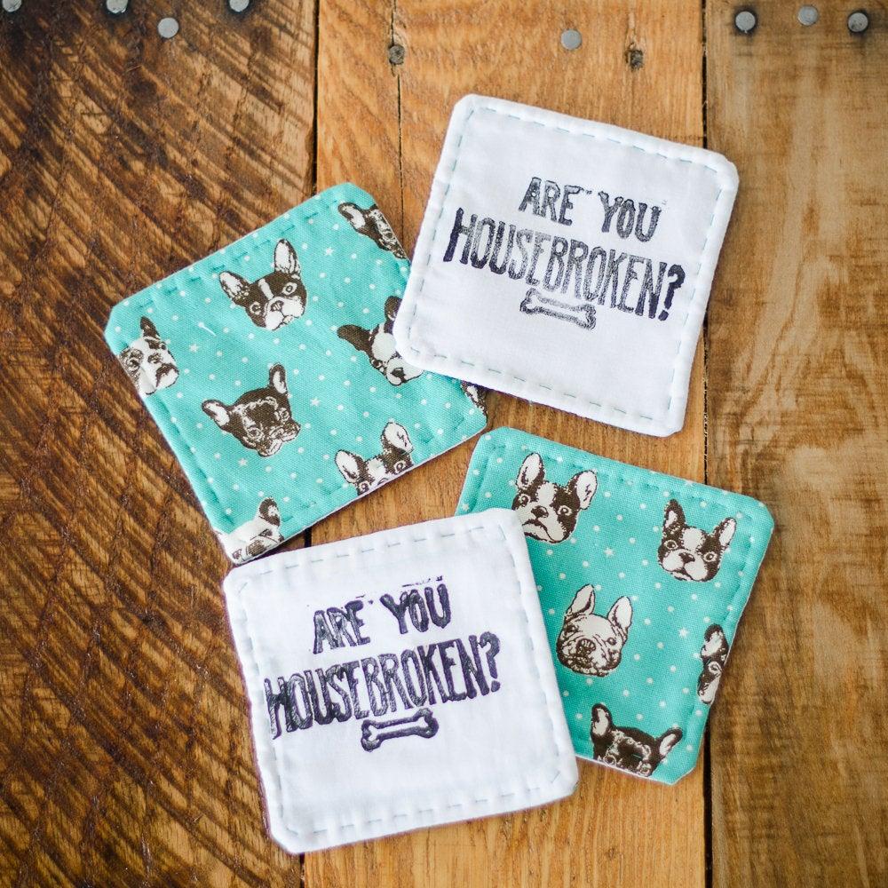 Image of Are You Housebroken Coaster Set