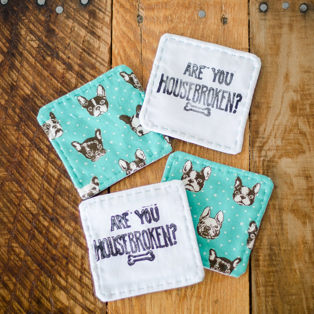 Image of Are You Housebroken Coaster Set