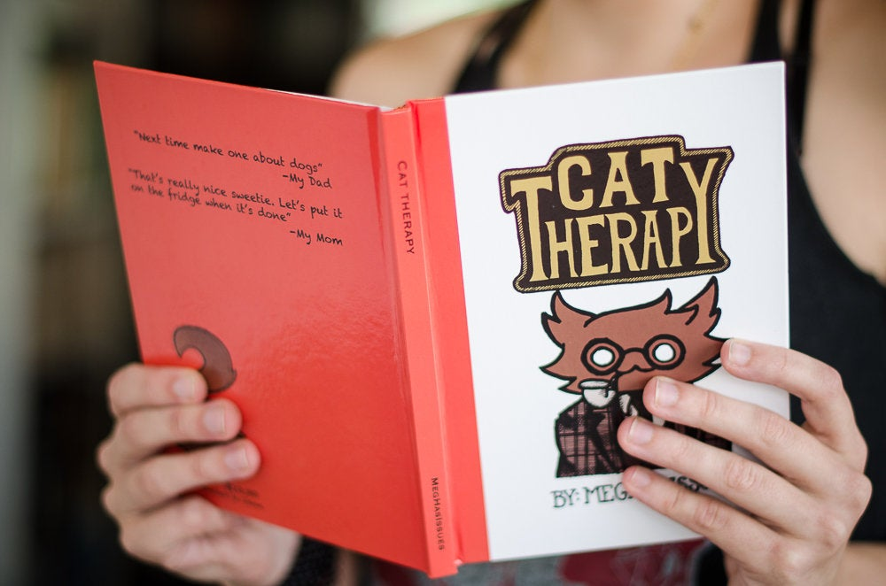 Image of Cat Therapy Hardcover Book