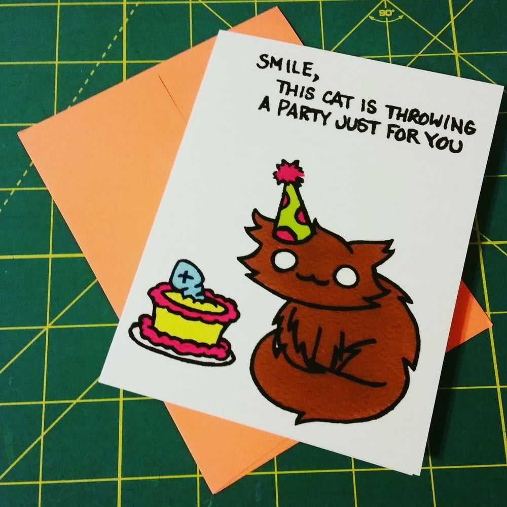 Image of Dot The Cat Greeting Card