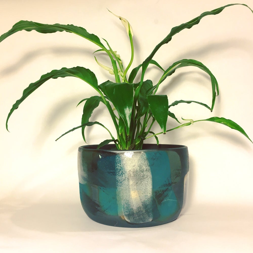 Image of Black and Blue Melangé Planter