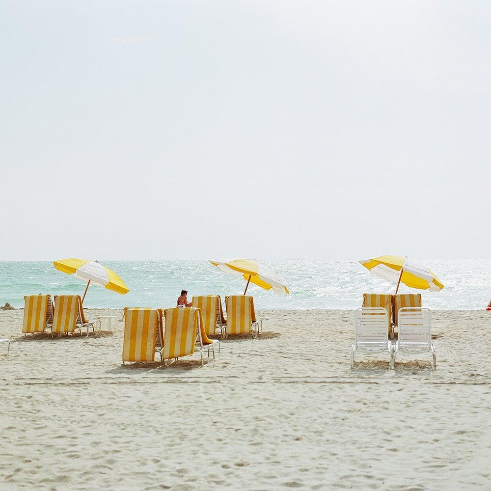 Image of Yellow beach chairs