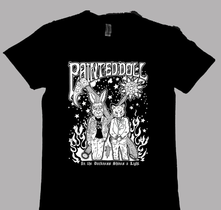 Image of Painted Doll 'Darkness Shines' T-Shirt
