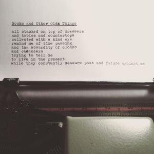 Image of Poetry Zine