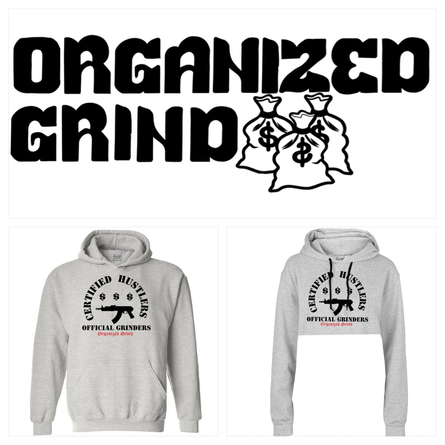 Image of New - Certified Hustlers ~ Official Grinders Hoodies