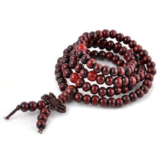 Image of SANDALWOOD MEDITATION YOGA PRAYER BEAD BRACELET
