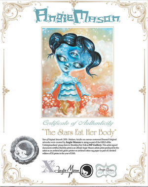 Image of 'THE STARS EAT HER BODY' Print