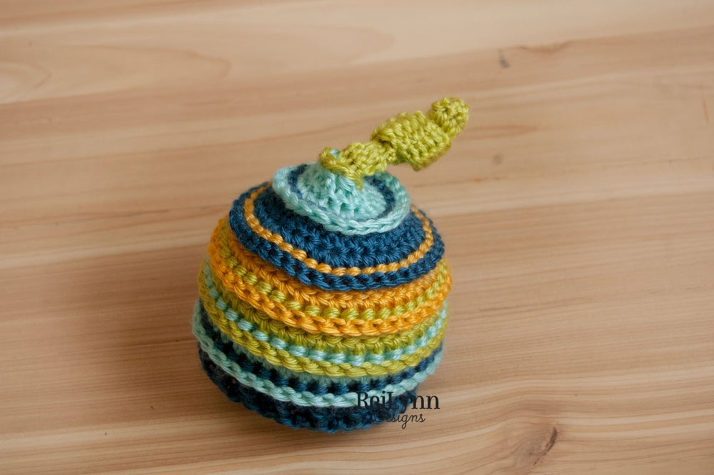 Image of Chartreuse, Aqua, Ocean and Mustard Knotty Beanie