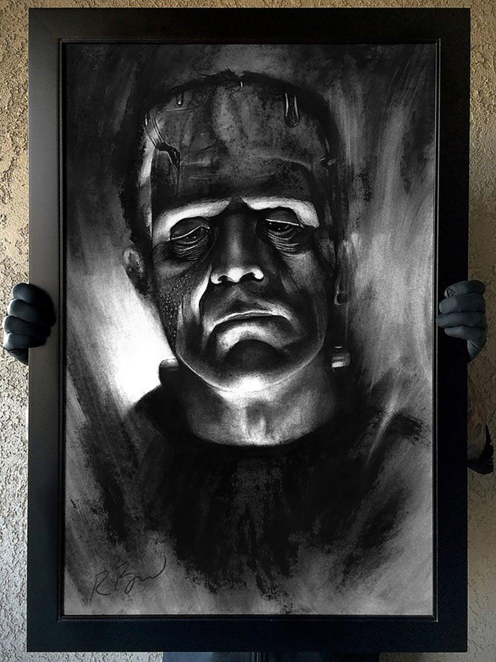 """Image of """"Die Monster Die"""" Original Karloff Frankenstein art"""