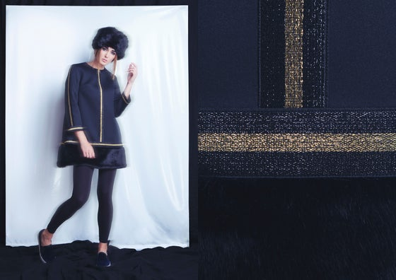 Image of SNOW black dress