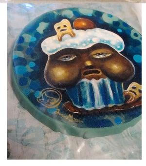 Image of CORRUPT CAKE MINI PRINT ON CANVAS
