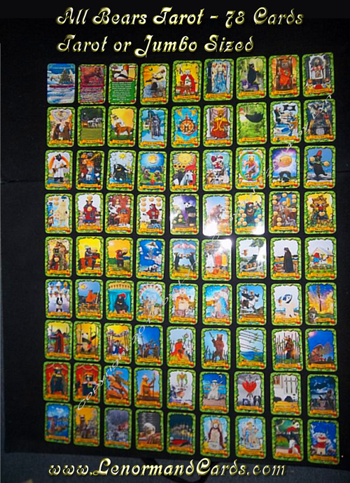 Image of All Bears Tarot  - 78 cards- (Tarot Sized Cards) (also other size options)