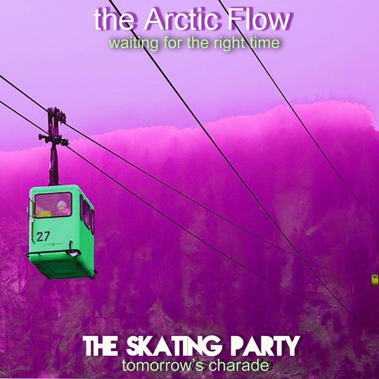 "Image of ""THE ARCTIC FLOW/THE SKATING PARTY"" SPLIT 7"" LATHE CUT"