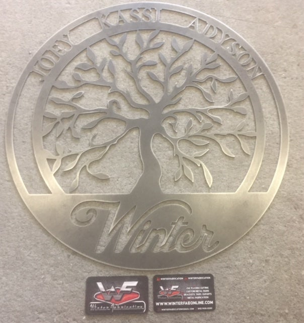 Image of Personalized Tree of Life - Family - Sign